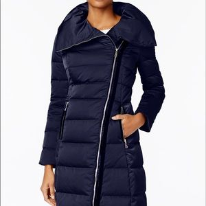 Tahari Blue Asymmetric Coat Like New!